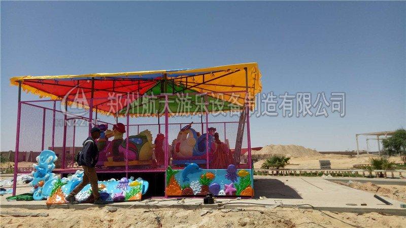 出口阿尔及利亚转马,欢乐喷球车设备