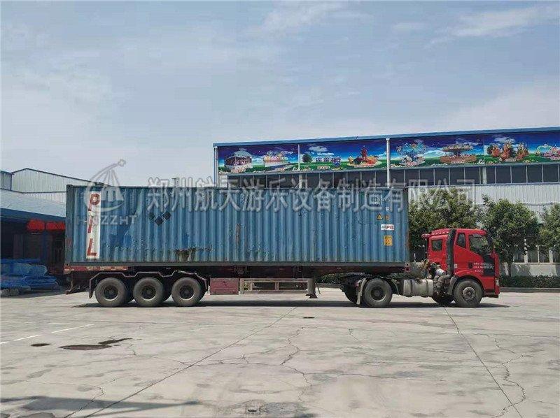7月24日乌兹别克斯坦发货旋转飞椅等设备